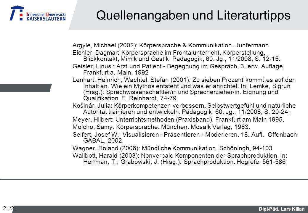 Quellenangaben und Literaturtipps
