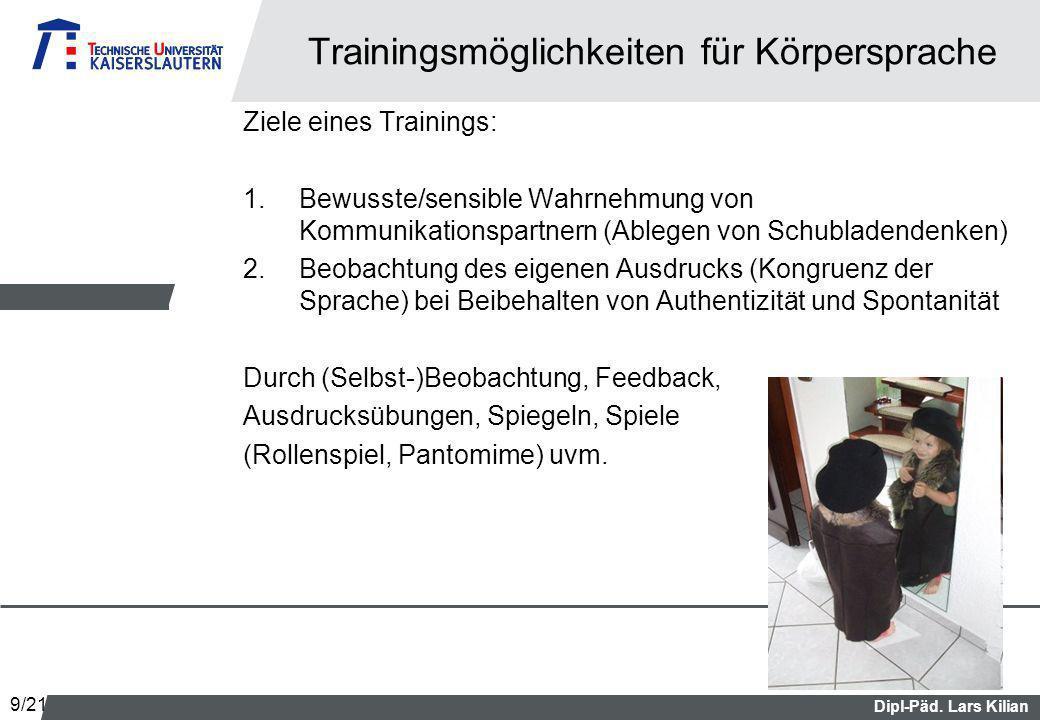 Trainingsmöglichkeiten für Körpersprache