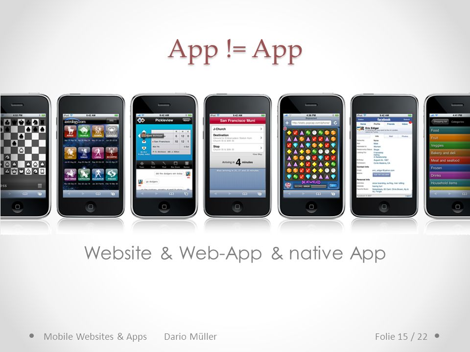 Website & Web-App & native App