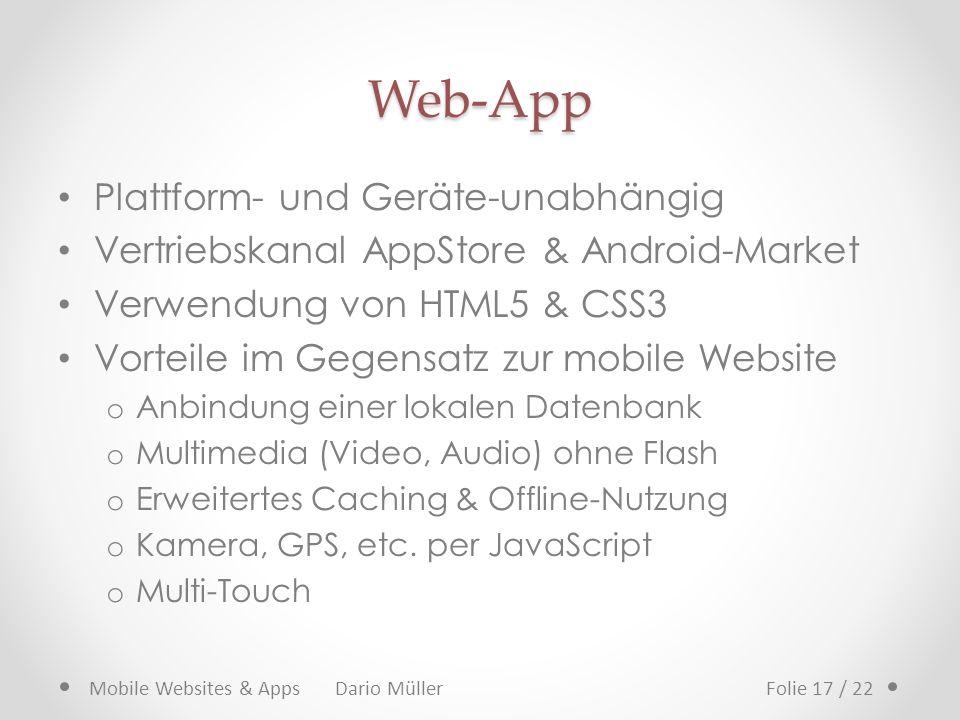 Web-App Plattform- und Geräte-unabhängig