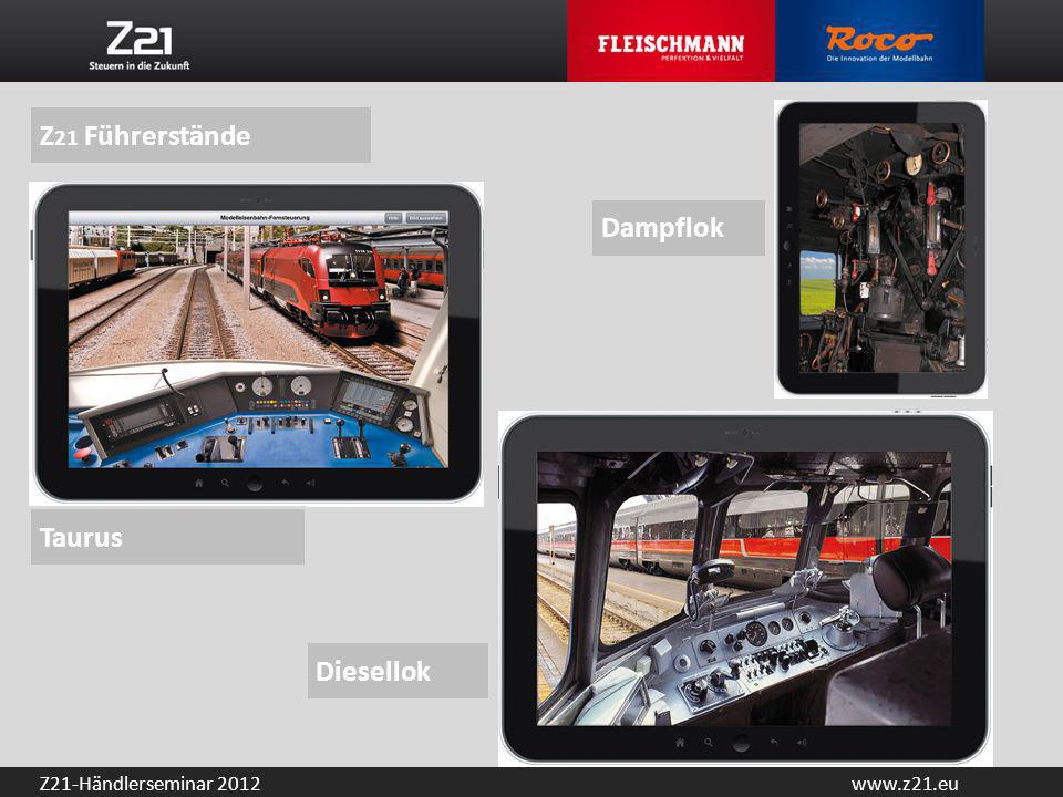 Z21 Führerstände Dampflok Taurus Diesellok