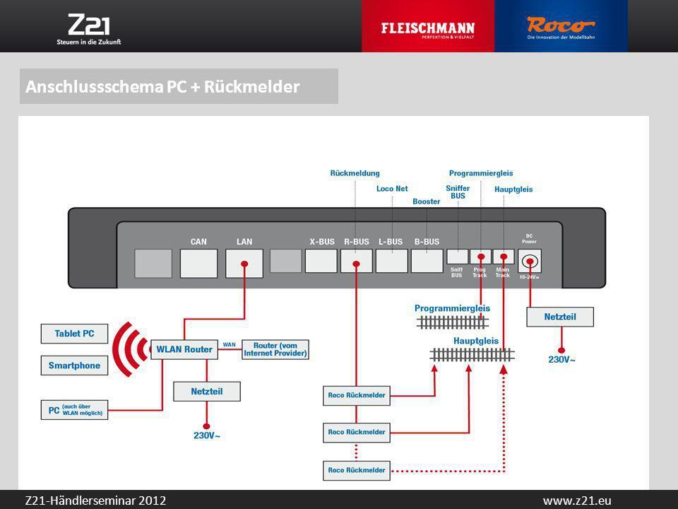 Anschlussschema PC + Rückmelder