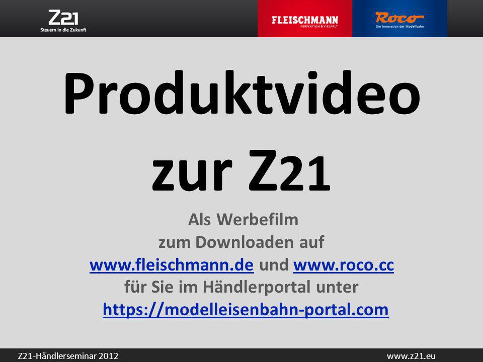 Produktvideo zur Z21 Als Werbefilm zum Downloaden auf www. fleischmann