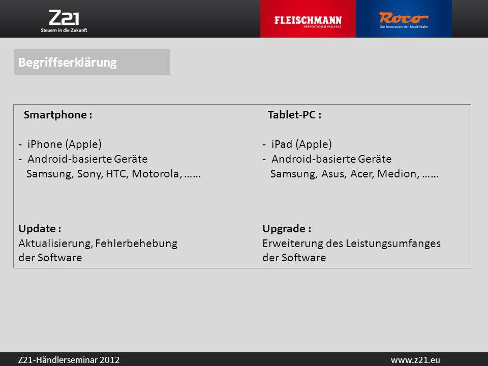 Begriffserklärung Smartphone : Tablet-PC :