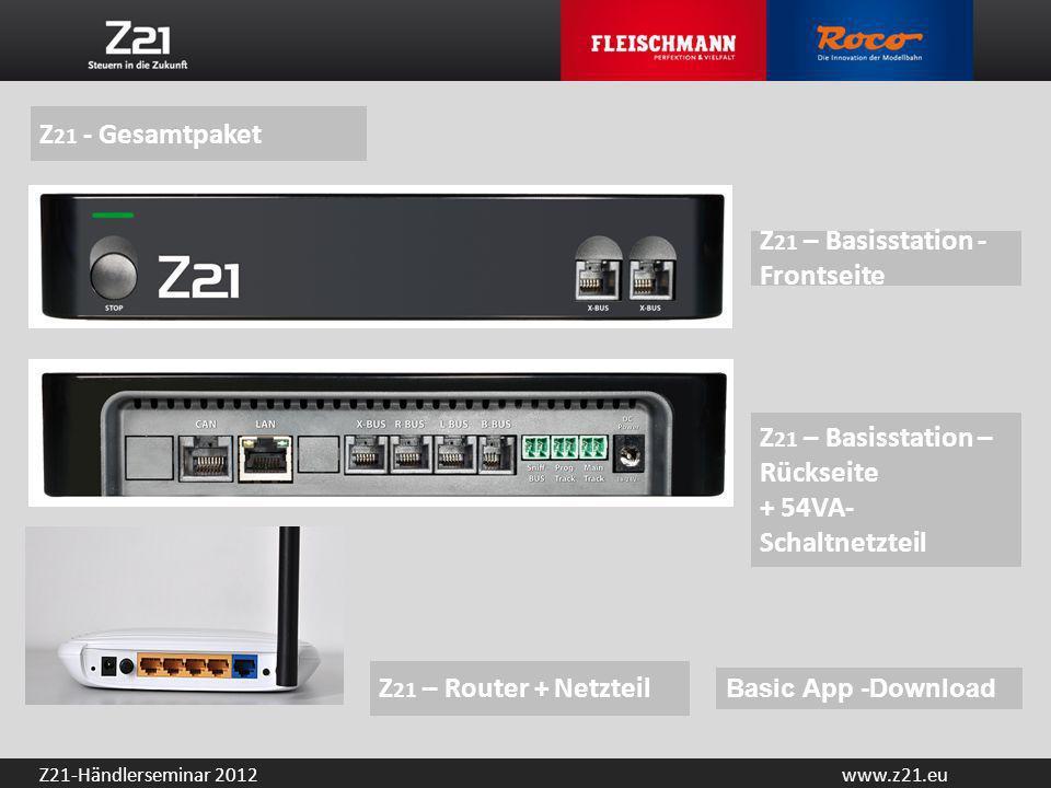 Z21 – Basisstation -Frontseite
