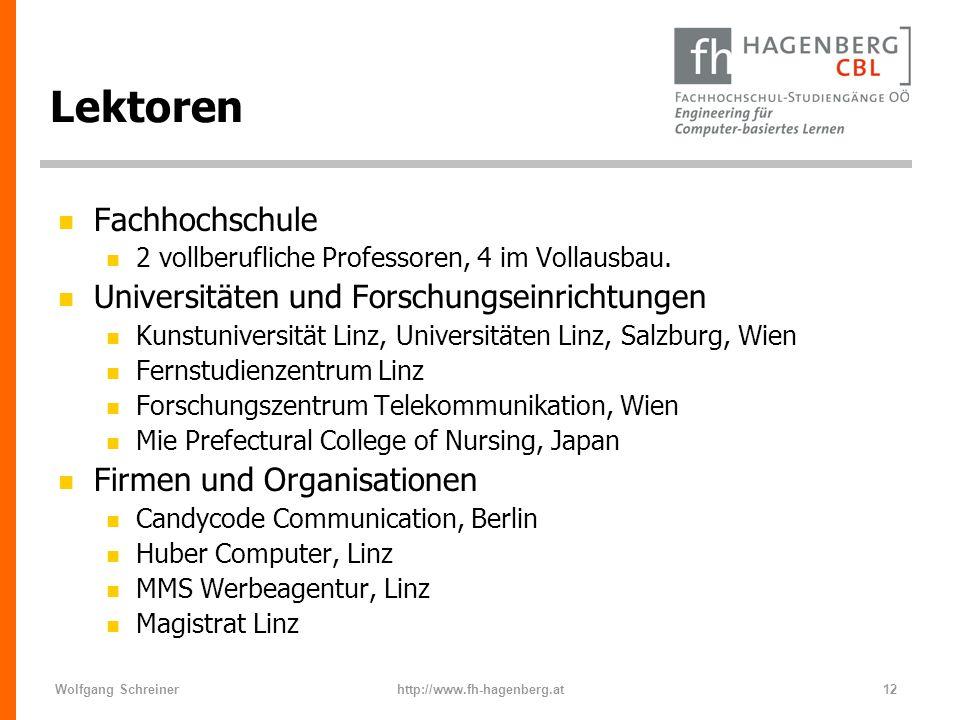 Lektoren Fachhochschule Universitäten und Forschungseinrichtungen