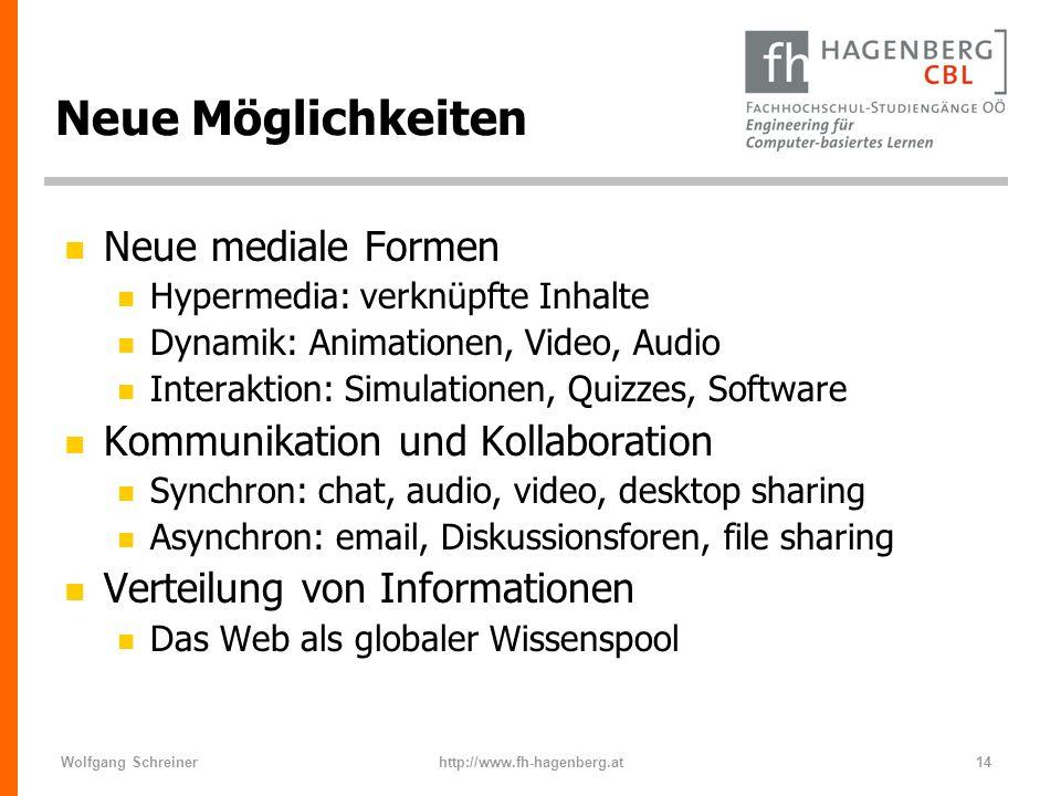 Neue Möglichkeiten Neue mediale Formen Kommunikation und Kollaboration