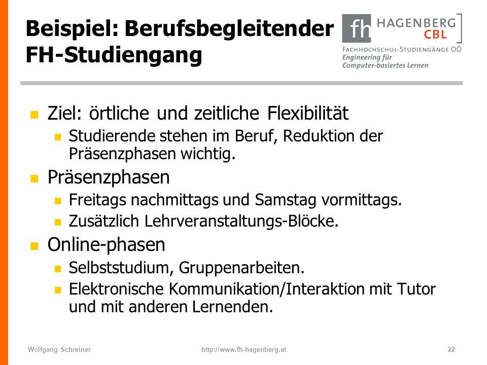 Beispiel: Berufsbegleitender FH-Studiengang