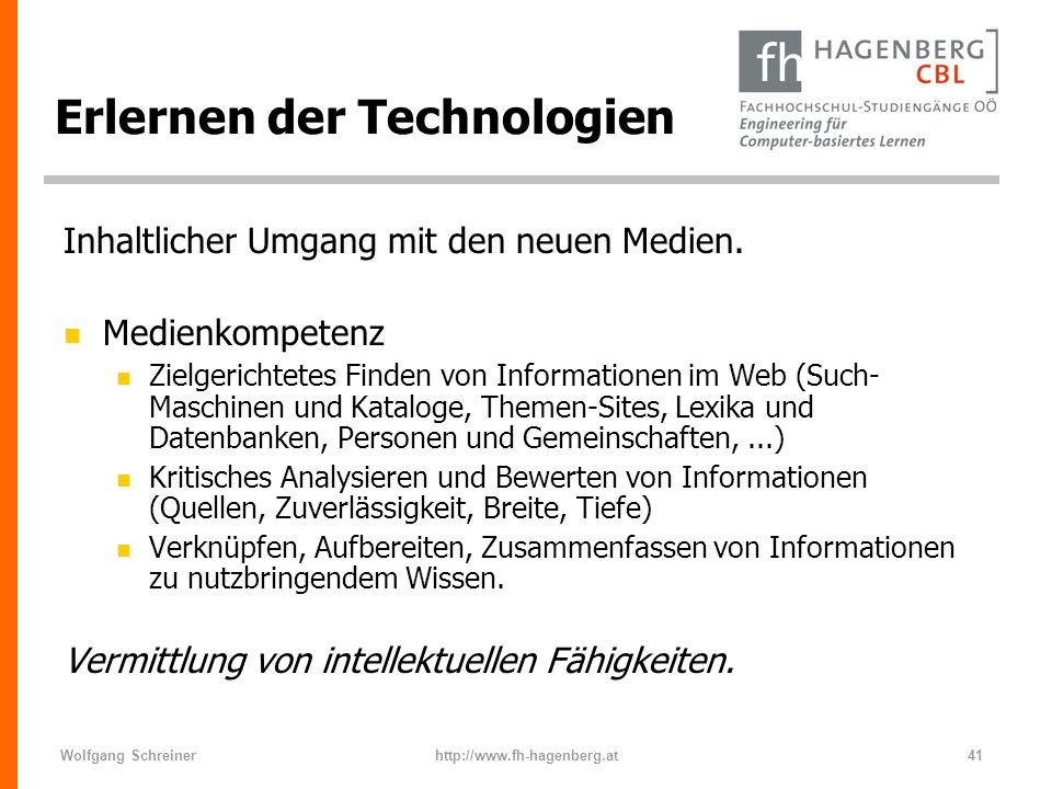 Erlernen der Technologien
