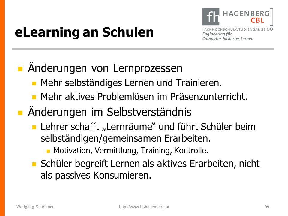 eLearning an Schulen Änderungen von Lernprozessen