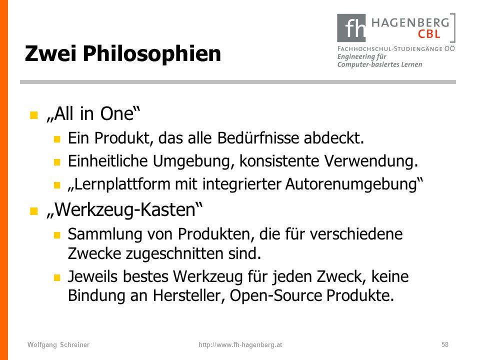 """Zwei Philosophien """"All in One """"Werkzeug-Kasten"""