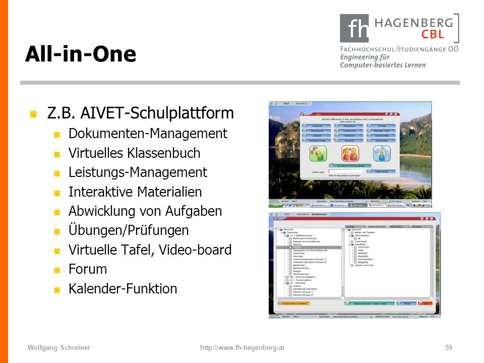 All-in-One Z.B. AIVET-Schulplattform Dokumenten-Management