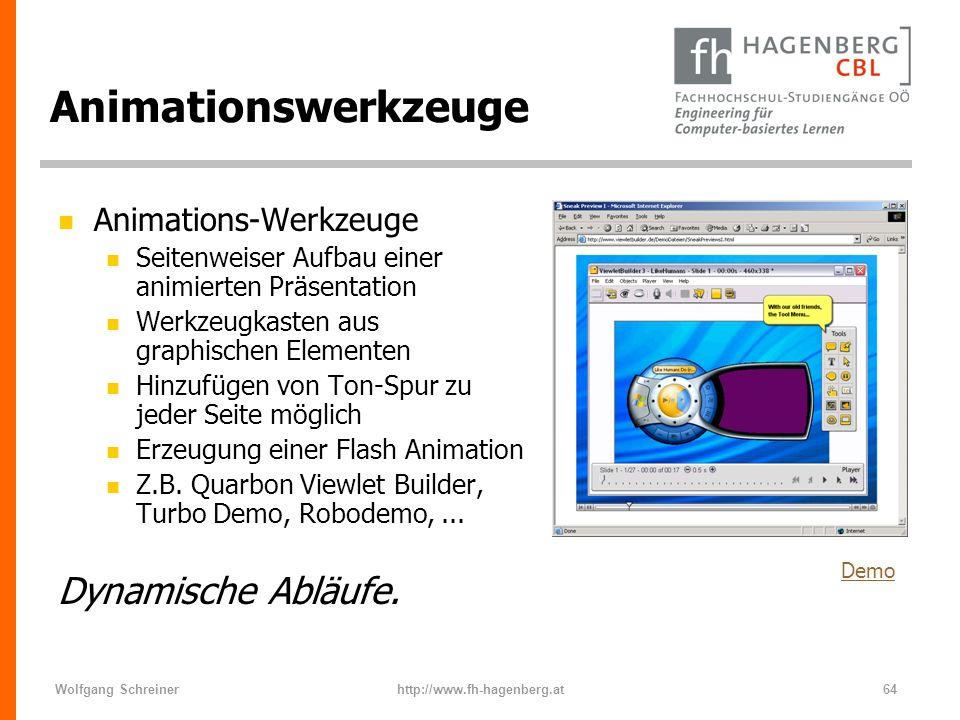 Animationswerkzeuge Dynamische Abläufe. Animations-Werkzeuge