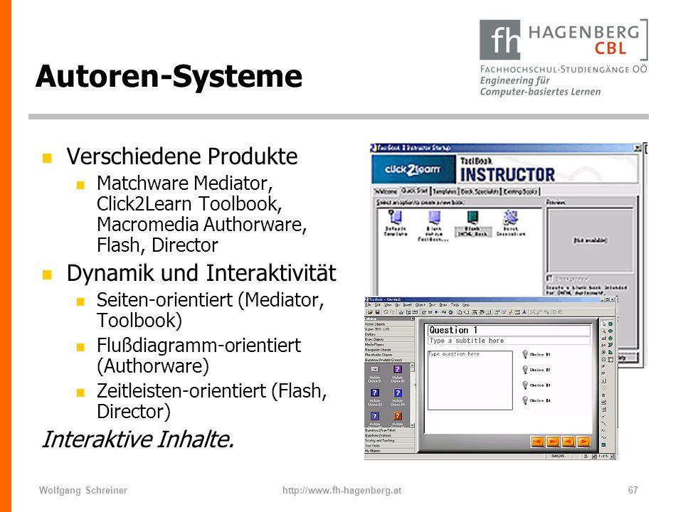 Autoren-Systeme Verschiedene Produkte Dynamik und Interaktivität