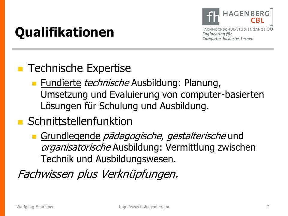 Qualifikationen Technische Expertise Schnittstellenfunktion