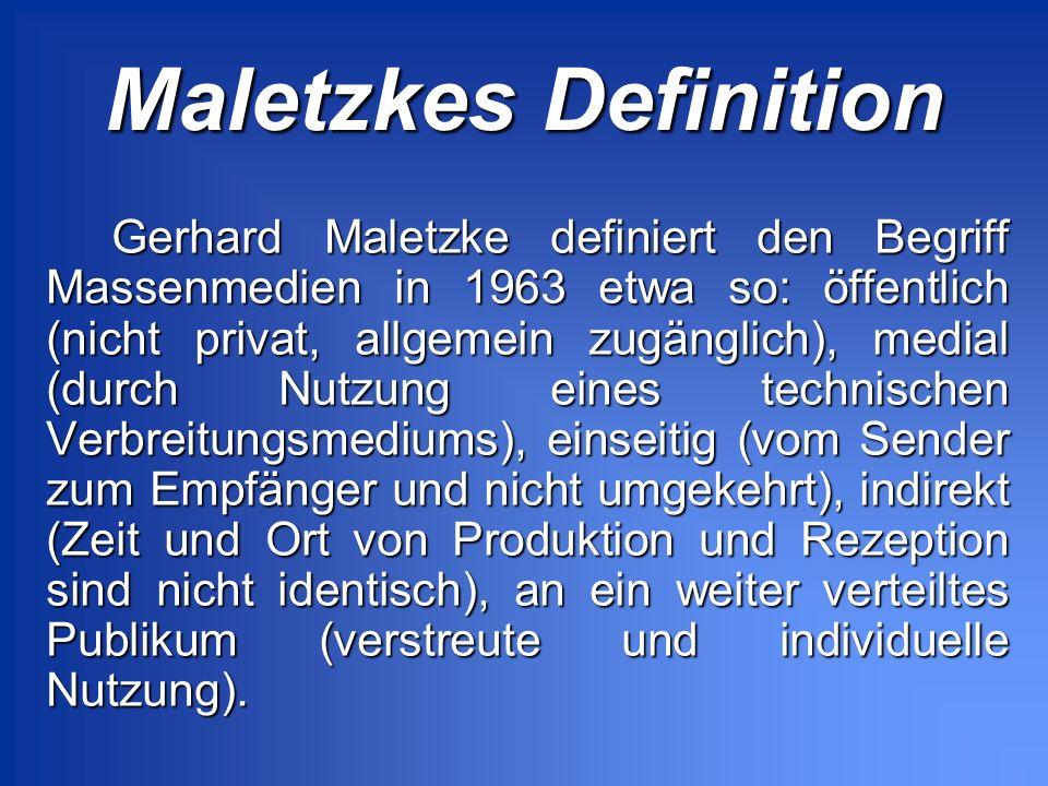 Maletzkes Definition