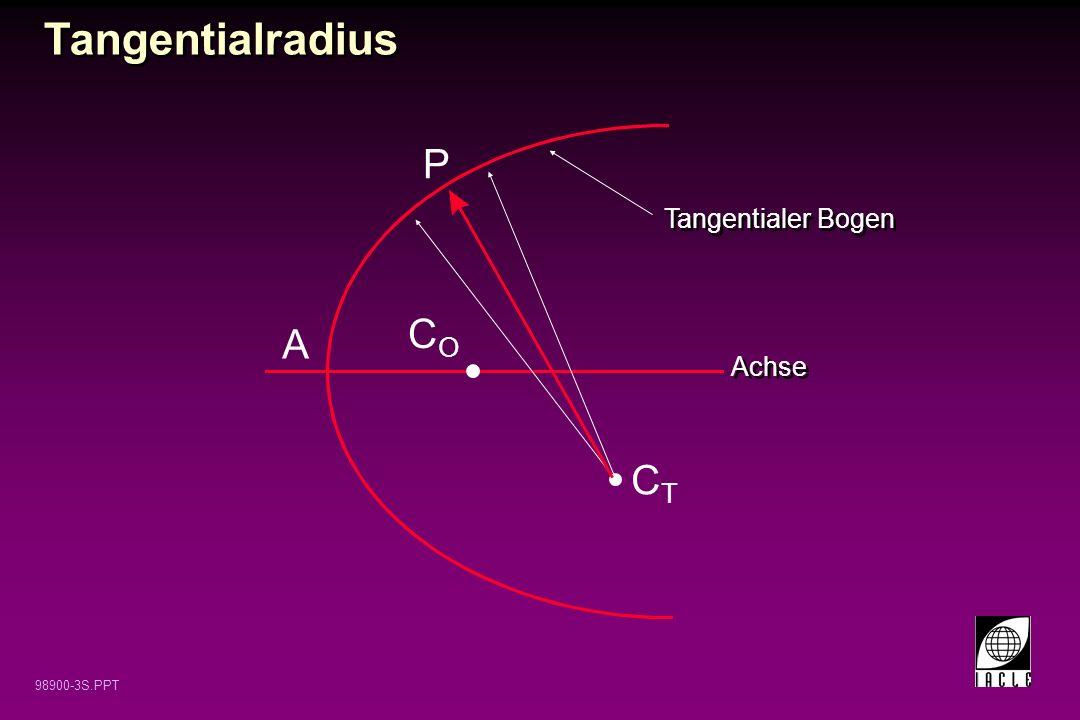 Tangentialradius P Tangentialer Bogen CO A Achse CT 12 12