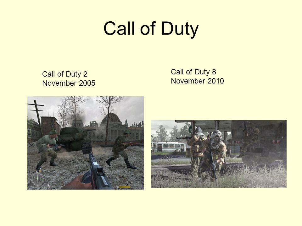 Call of Duty Call of Duty 8 November 2010 Call of Duty 2 November 2005