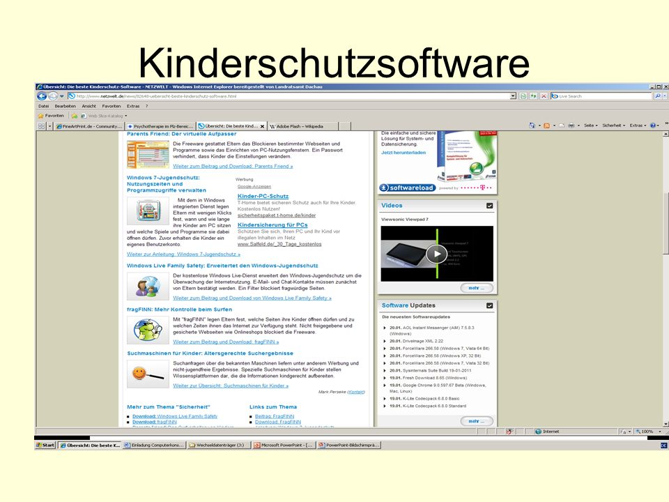 Kinderschutzsoftware