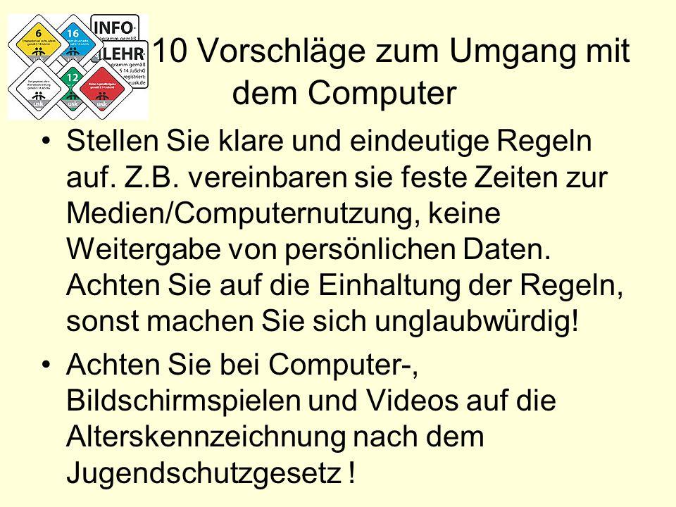10 Vorschläge zum Umgang mit dem Computer