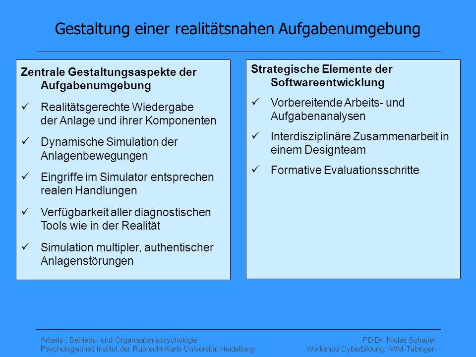 Gestaltung einer realitätsnahen Aufgabenumgebung