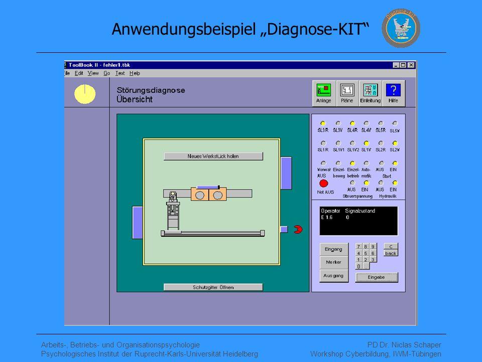 """Anwendungsbeispiel """"Diagnose-KIT"""