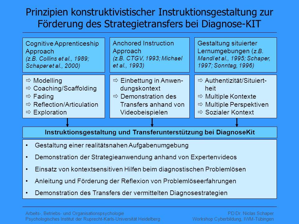 Instruktionsgestaltung und Transferunterstützung bei DiagnoseKit