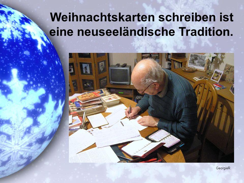 Weihnachtskarten schreiben ist eine neuseeländische Tradition.