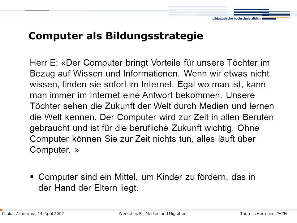Computer als Bildungsstrategie