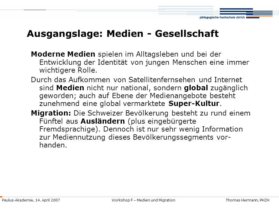 Ausgangslage: Medien - Gesellschaft