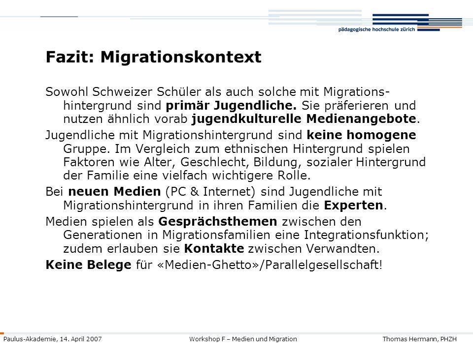 Fazit: Migrationskontext