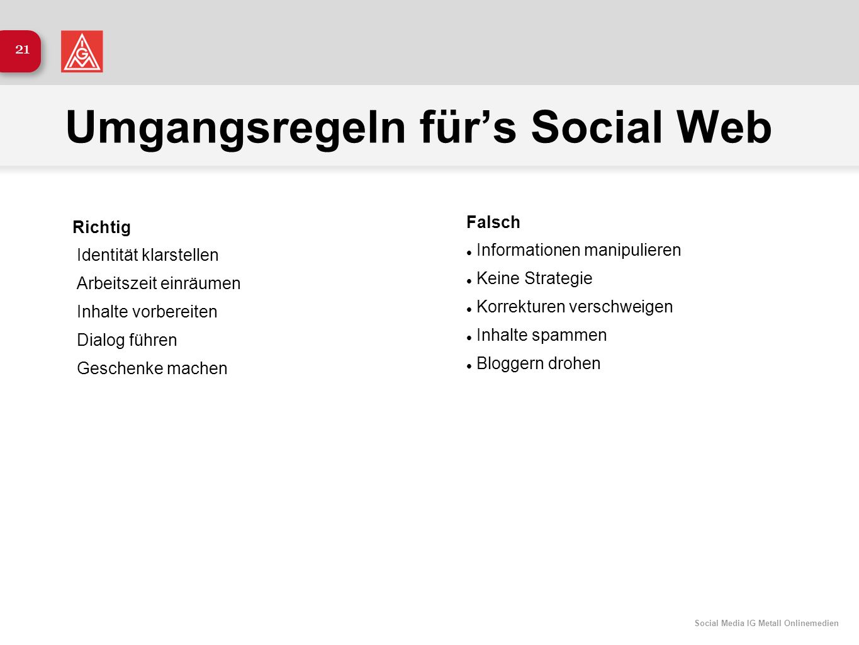 Umgangsregeln für's Social Web