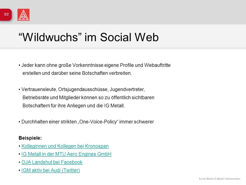 Wildwuchs im Social Web