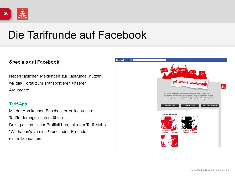 Die Tarifrunde auf Facebook