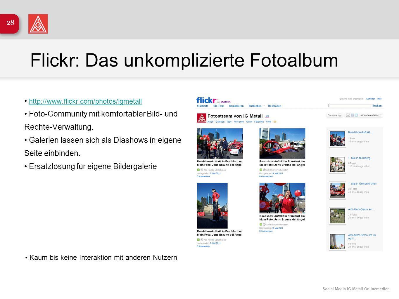 Flickr: Das unkomplizierte Fotoalbum
