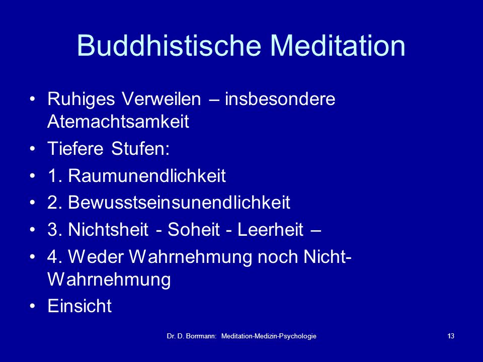 Buddhistische Meditation