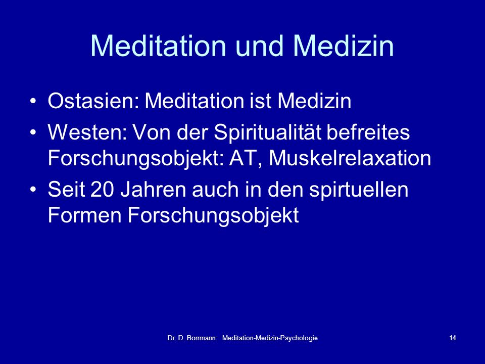 Meditation und Medizin
