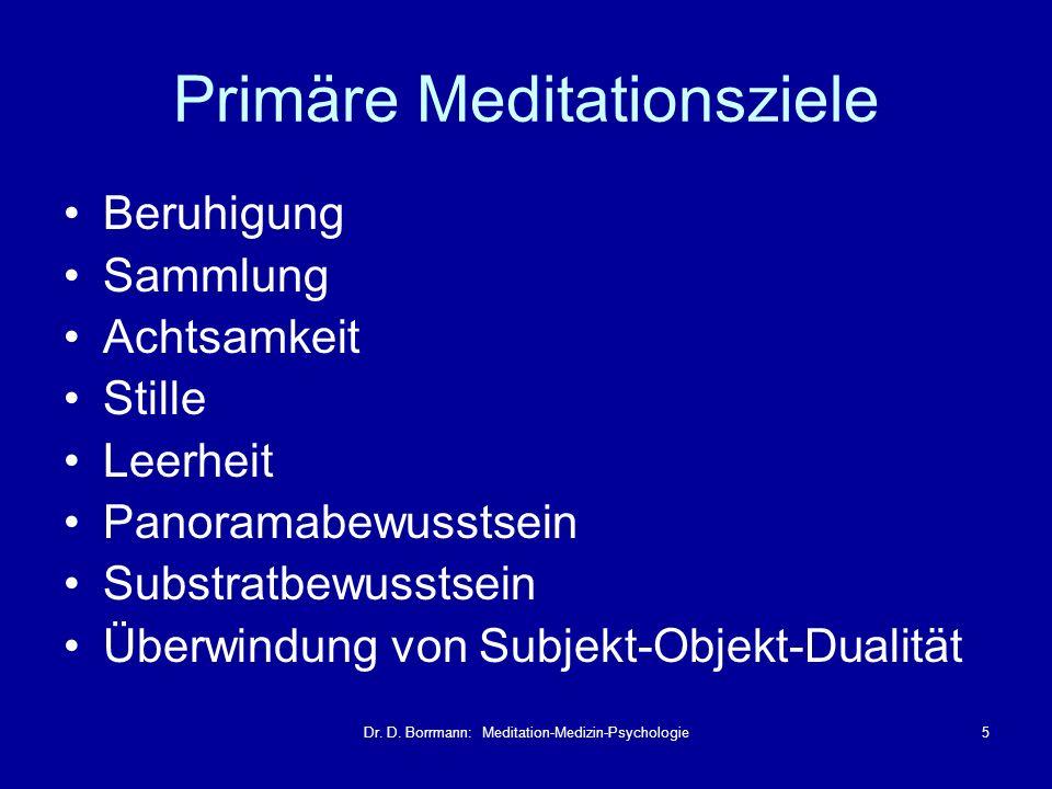 Primäre Meditationsziele