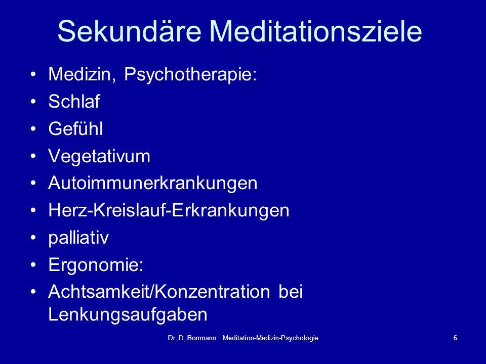 Sekundäre Meditationsziele