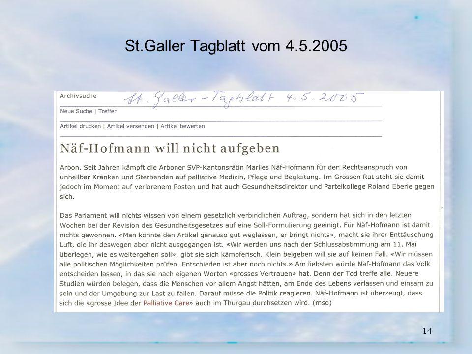 St.Galler Tagblatt vom 4.5.2005