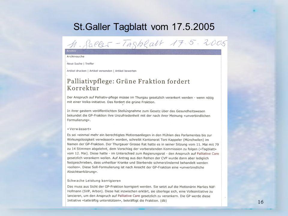 St.Galler Tagblatt vom 17.5.2005