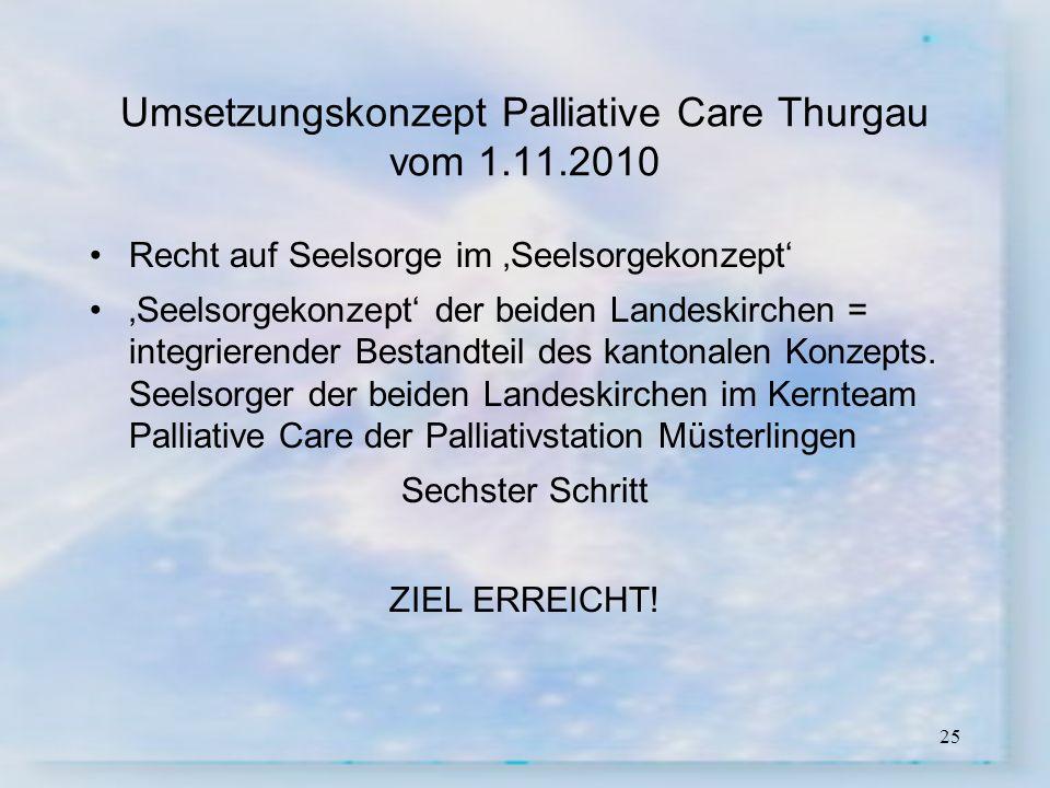 Umsetzungskonzept Palliative Care Thurgau vom 1.11.2010