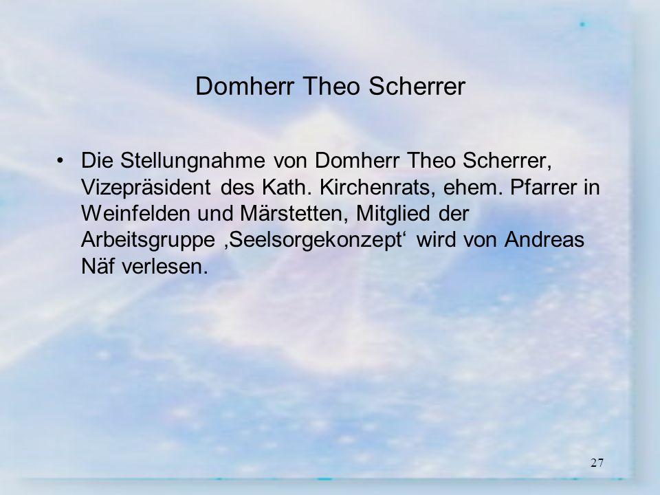 Domherr Theo Scherrer