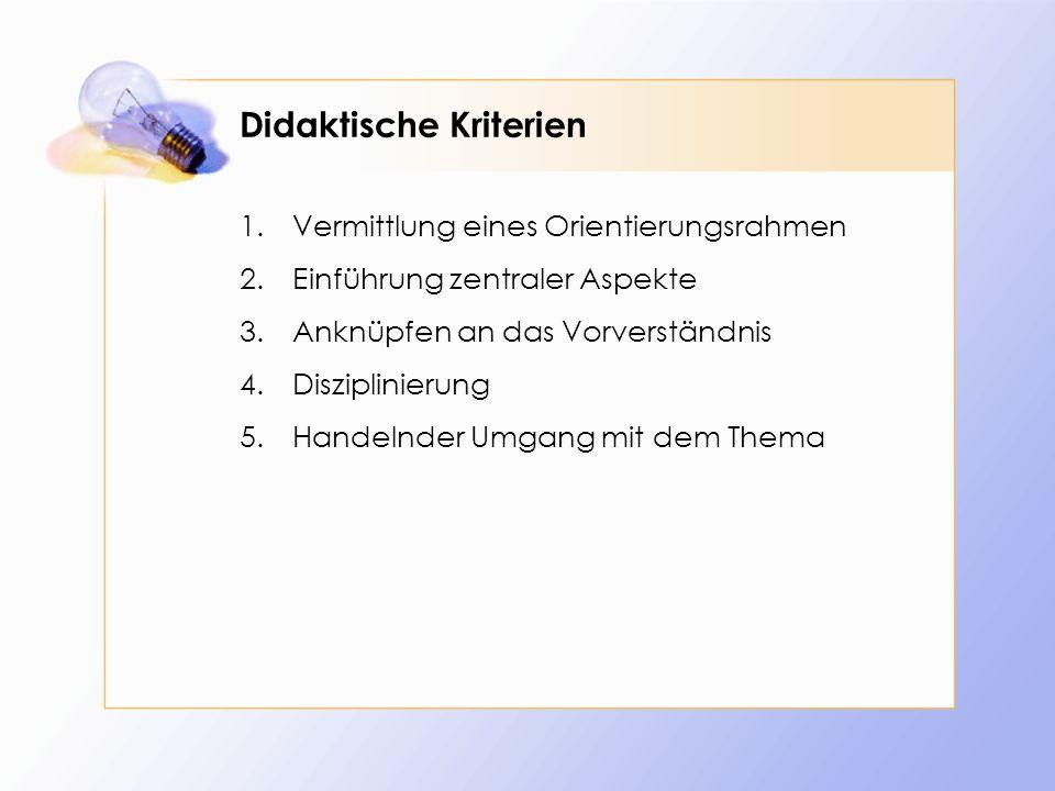 Didaktische Kriterien
