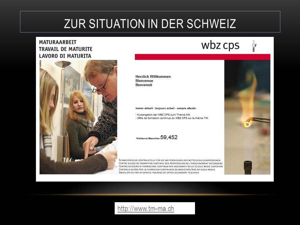 Zur Situation in der Schweiz