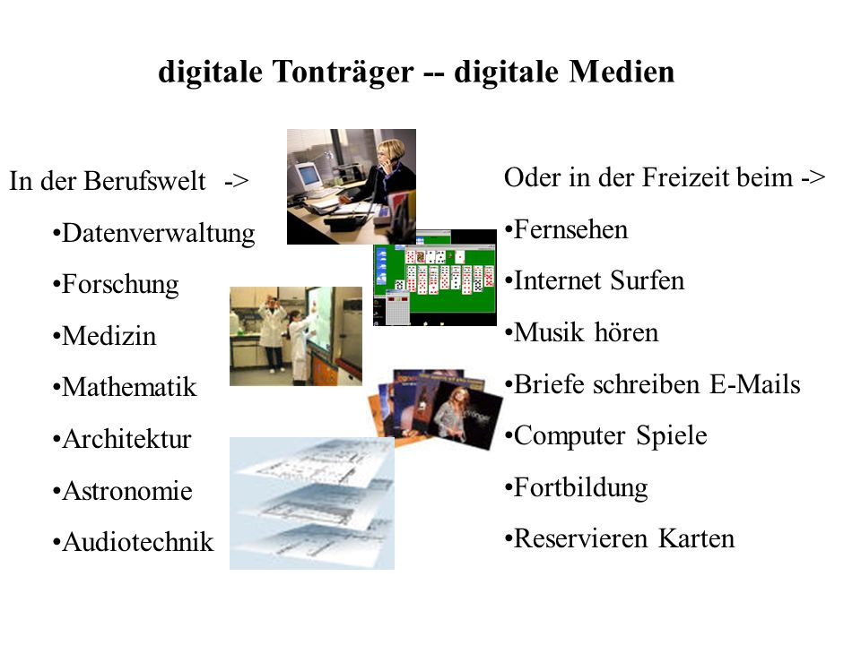 digitale Tonträger -- digitale Medien