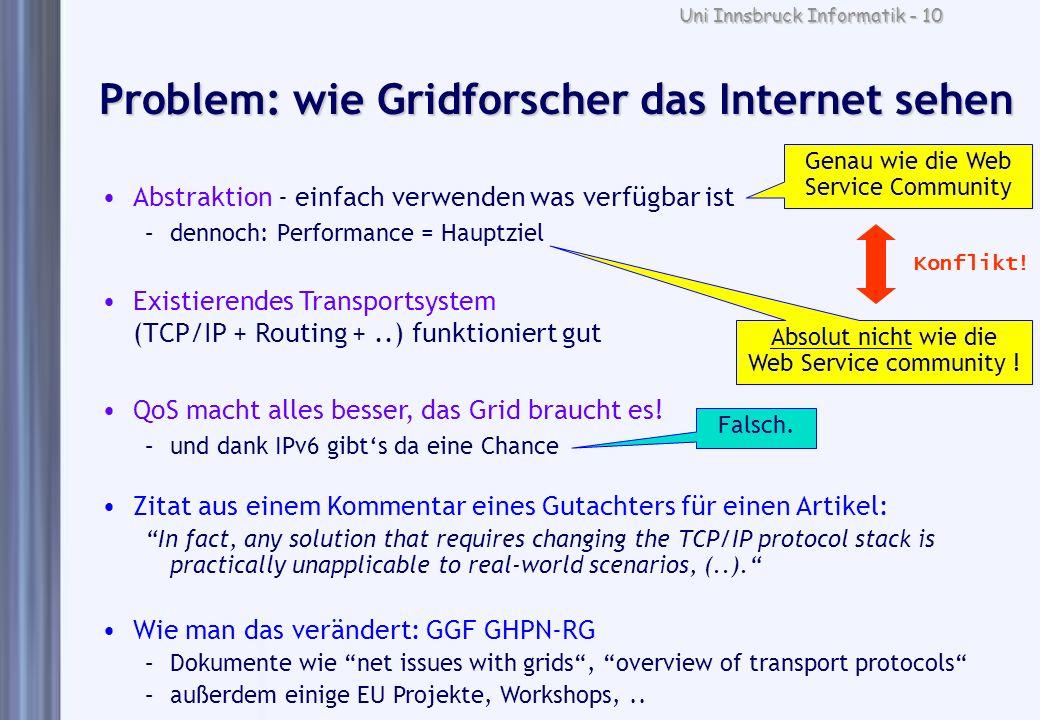 Problem: wie Gridforscher das Internet sehen