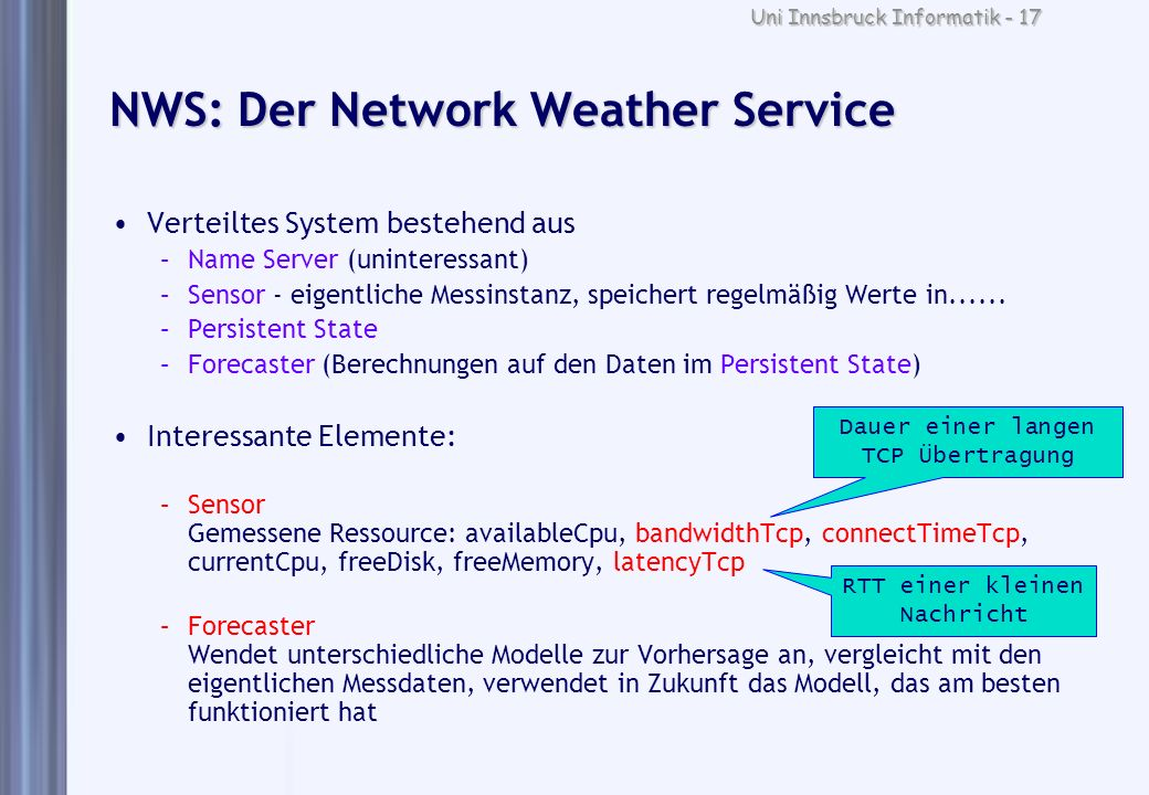 NWS: Der Network Weather Service
