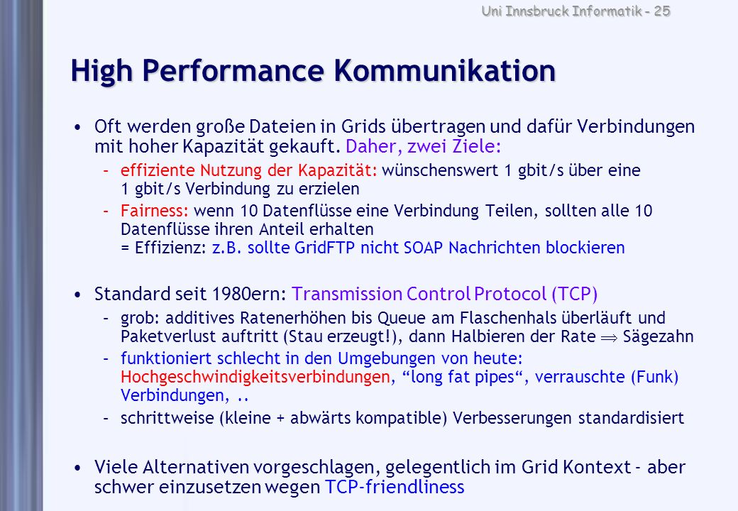 High Performance Kommunikation