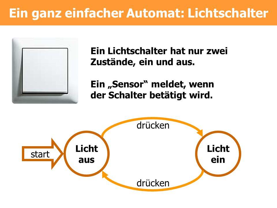 Ein ganz einfacher Automat: Lichtschalter